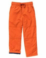 NWT Gymboree Boys Pull on Pants Fleece lined orange gymster many sizes