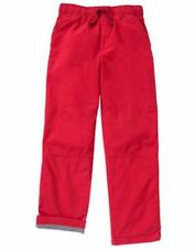 NWT Gymboree Boys Pull on Pants Jersey lined RED gymster many sizes