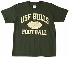 NCAA USF SOUTH FLORIDA BULLS BOY'S OLD VARSITY GILDAN GREEN COTTON T-SHIRT NEW