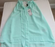 NWT Banana Republic  Women's Petite Sleeveless Light Mint Green Size XS MSRP $49