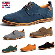 Mens Casual/Dress Formal Oxfords Flats Shoes Genuine Suede Leather New 2017
