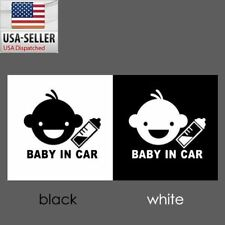 Baby in Car smiling boy Safety Sign 3M Reflective Window Vinyl Decal Sticker