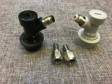 homebrew beer Cornelius Corny Keg Ball Lock Disconnects SET Flared Gas
