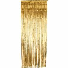 Gold Shimmer Foil Door Curtain Birthday Xmas Curtain Fringe Decoration Party