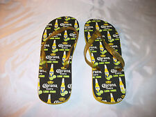 NEW Corona Extra Mens Sandals/Flip Flops black/yellow with Beer logo