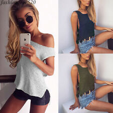 Women Kintting Cotton Cropped Top Camis Female Sexy Crew Neck Fitness Vest Tee