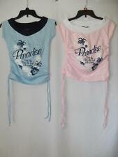 New Girls Sweety Girl Shirts - Short Sleeve - Pink or Blue - Sz M-L - NWOT