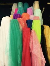 60 Inch wide Glitter Mesh Sequins Tulle Fabric by Yard Craft Decoration Wedding