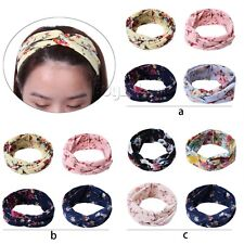 4PCs Kids Girls Toddler Floral Headband Hair Band Accessories Headwear Head Wrap