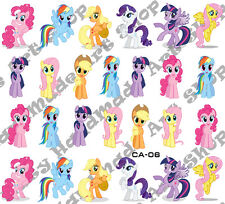 12 pcs Sheets Nail Art Stickers Water Slide Decals DIY Cartoons My Little Pony