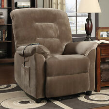 Power Lift Recliner Electric Catnapper Furniture Brown Casual Chair Comfortable