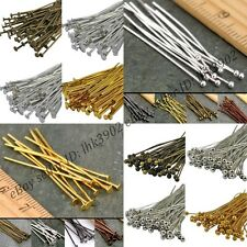 100Pcs Silver Plated Ball Head Eye Pins Jewelry Findings