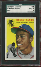 1994 Topps Archives GOLD #128 HANK AARON RC Braves HOF graded NM/MT 8 by SGC