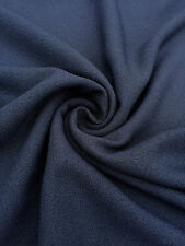 Navy Blue Crepe Dressmaking Fabric Material Polyester Texture