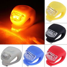 LED Bicycle Bike Cycling Silicone Head Front Rear Wheel Safety Light Lamp OI