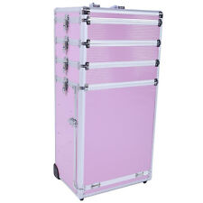 4-in-1 Interchangeable Aluminum Rolling Makeup Case Cosmetic Train Box Trolley