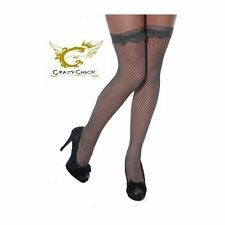 Fish Net Stockings With Black Ladies Thigh High Lace Top Socks Stylish Accessory