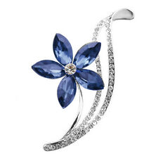 New 18k real gold plated Choose Rhinestone Flower Brooches Women Fashion Jewelry