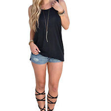 Woman Backless Knot Top Blouse Cami Tee T-Shirt Sexy Casual Summer Tank Vest