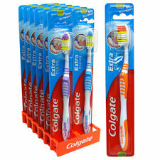 Colgate Extra Clean Toothbrushes Tooth Brush Oral Reach Back Teeth **NEW***