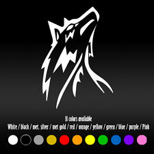 "5"" Tribal tattoo Wolf Howling Diecut Car Bumper Window Vinyl Decal sticker"