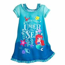 NWT Disney Store Ariel Nightgown Nightshirt Princess Little Mermaid 4 5 6 7 8
