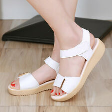 Simple Womens Summer Open Toe Platfrom Student Leisure Comfortable Sandals Shoes