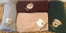 EMBROIDERED PERSONALIZED AKC DOG BREED LOVER FLEECE THROW BLANKETS (BREEDS D-J)