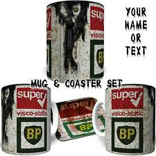 BP inspired Oil Can Printed Mug Personalised YOUR Name & Text FREE DELIVERY