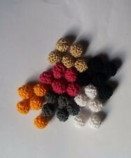 Set 5 Crochet Wool Cotton Woven Beads Crafts Jewelry Necklace 12 mm Choose Color