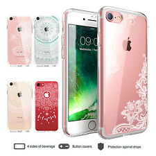 IPhone 6 6s 7 Plus Case Mandala Pattern Ultra Thin Clear Bumper Cover for Apple