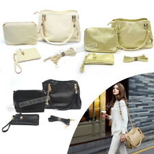 Womens Designer Handbag Set PU Leather Shoulder Messenger Tote Purse Ladies Bag