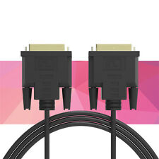 DVI to DVI DVI-D 24+1 adapter Gold plated Male to Male Dual Link Cable For TFT