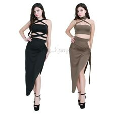 Women's Bandage Bodycon Sleeveless Evening Party Cocktail Club Short Split Dress