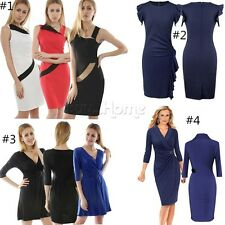 Business Women Career Bodycon Evening Cocktail Party Formal Pencil Office Dress