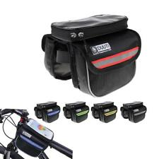 Bicycle Bike Top Frame Front Pannier Carrier Tube Bag Double Pouch Holder