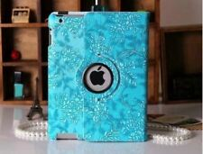 PREMIUM 360 Rotate GRAPE FLOWER Smart Leather Cover Case for iPad 4 3 2