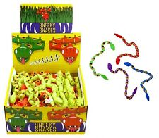 Plastic SNEAKY SNAKES Pinata Toy Loot Childrens Party Bag Fillers Favours Prank