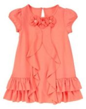 NWT Gymboree Coral Ruffle Flower Dress Cherry Blossom 12 18 24mo 2T 4T 5T