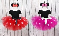 Kids Girls Baby Toddler Minnie Mouse Party Fancy Tutu Dress Up Costume Headband