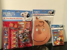New, The Peanuts Movie Party Accessories, Invitations, Masks, Mega Value Pack