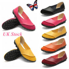 UK Women's Soft Slip On Loafers Casual Moccasins Flats Sandals Pumps Shoes SIZE