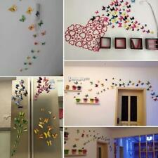 3D DIY Butterfly Wall Stickers Art Design Decal Room Decor Home Decoration 12pcs