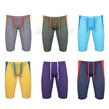 Gym Mens Compression Fitness Tights Base Layer Stretch Sport Running Pants Short