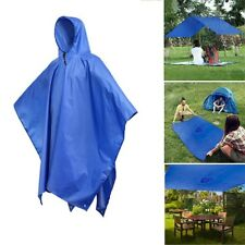 3 in 1 Travel Waterproof Poncho Outdoor Raincoat Shelter Camping Mat Backpack