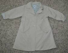 GUC-Girls Baby Gap Beige Button Up Lined Spring Fall Trench Coat Jacket- 3 years