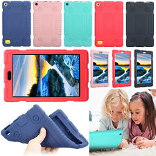 """For Amazon Kindle Fire 7"""" HD 8""""  2017 Rugged Soft Silicone Rubber Gel Case Cover"""