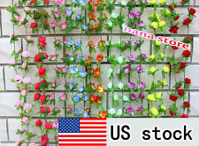 Artificial Fake Silk Rose Flower Ivy Vine Garland Wedding Party Home Decor 19sty