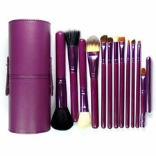 12pcs Makeup Brush Set Cosmetic Tool Kit with PU Leather Holder Storage Case New