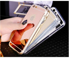 For Apple iPhone Mirror Effect Luxury Ultra Thin Soft Silicone TPU Case Cover